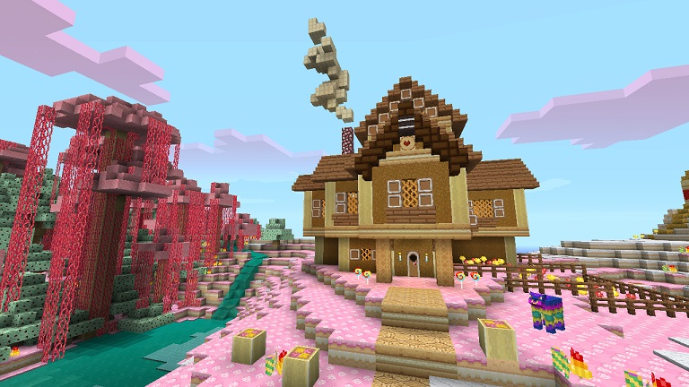 Minecraft pack de textures bonbons floriangaming for Time to build a house